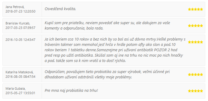 "SWISS LAKTOBACILY ""5"" - recenzie a skúsenosti"